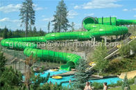 Fiberglass Rainbow Multi Water Slide Large Aqua Water World Customized Height
