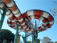 Customized Fiberglass Water Slides , Anaconda Water Slide Water Park Equipment