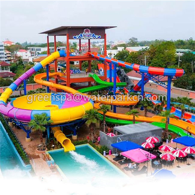 Galvanized Pipe Water Park Equipment / Amusement Park Equipment Fiberglass