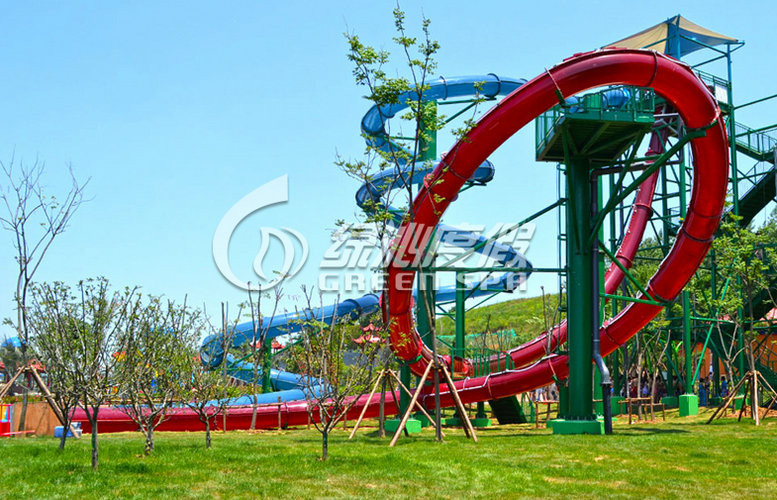 Commercial Fiberglass Small Water Slides for Water Park Resort Amusement Equipment