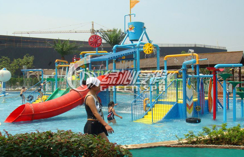 Summer Entertainment Fiberglass Kids Water Playground Equipment with High Speed Spiral Water Slide