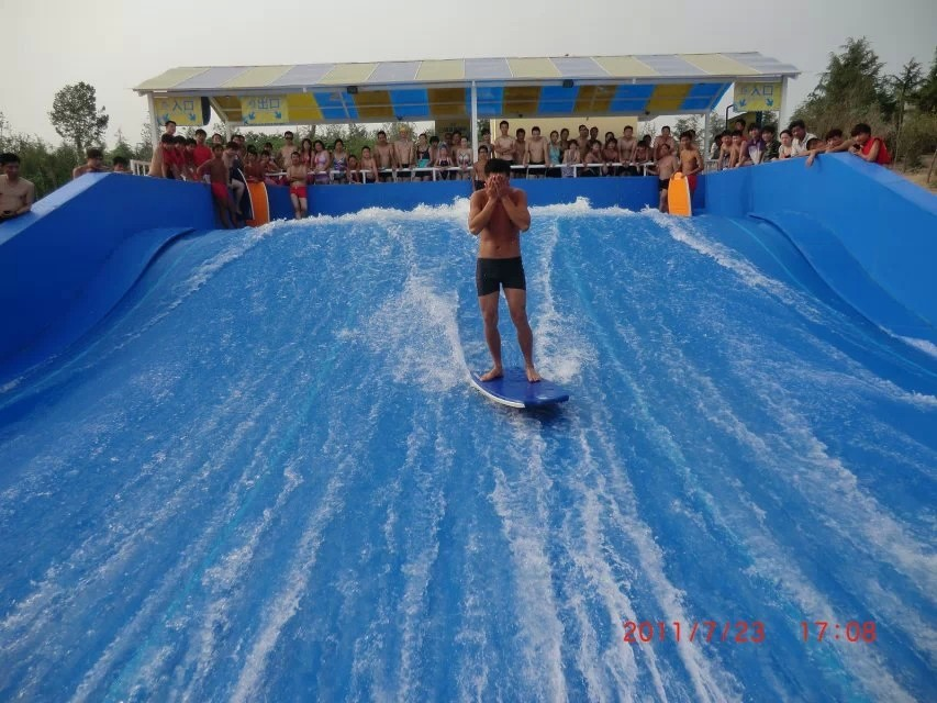Blue Skateboarding Exciting Surf n Slide Water Park for Fiberglass Aqua Park Equipment